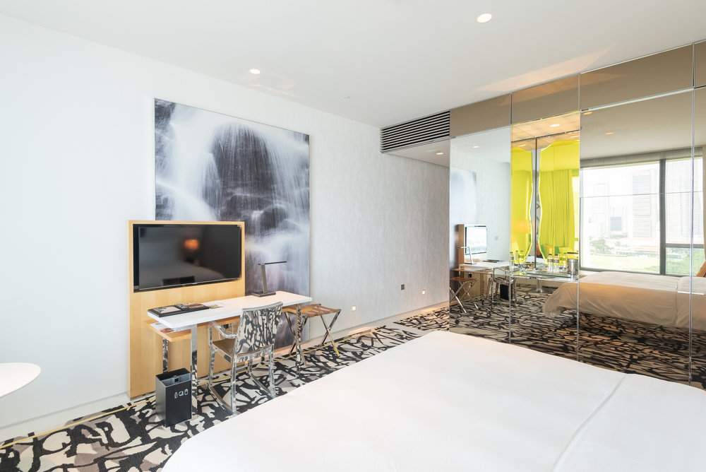 Bedroom  Premier Marina Bay View Room . JW Marriott Hotel Singapore South Beach