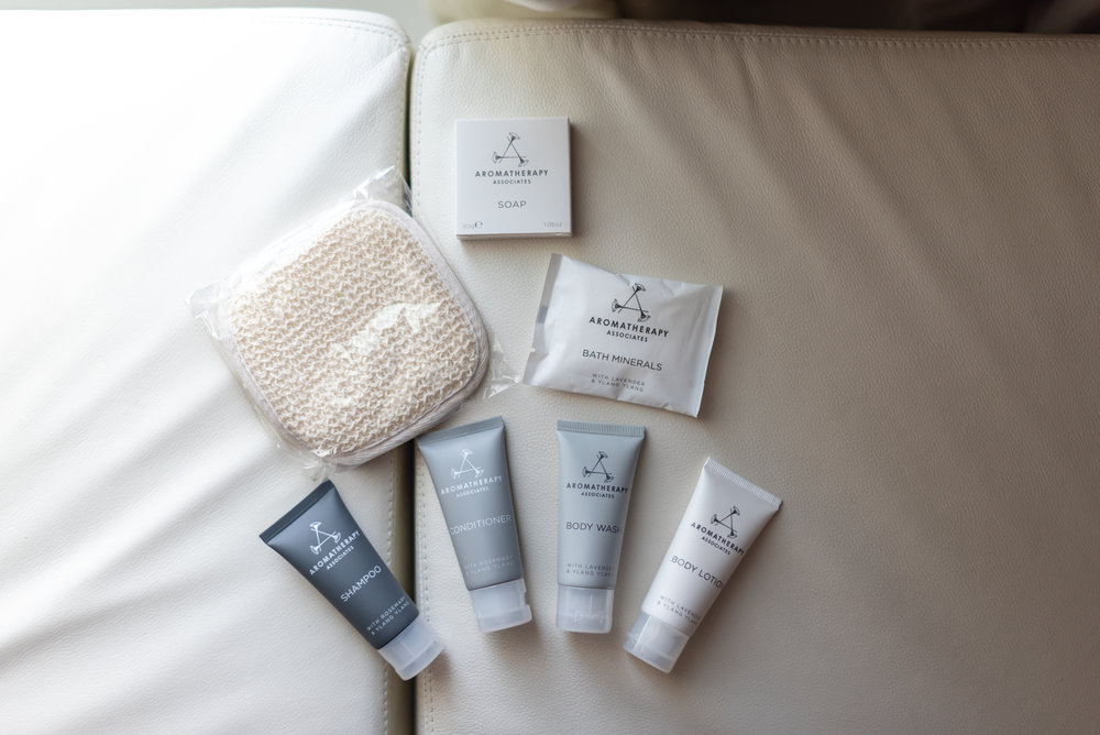 Bath Amenities  Premier Marina Bay View Room . JW Marriott Hotel Singapore South Beach