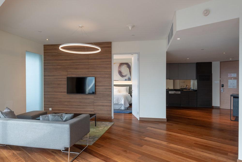 Living Room  One Bedroom Skyline Suite - Element Kuala Lumpur