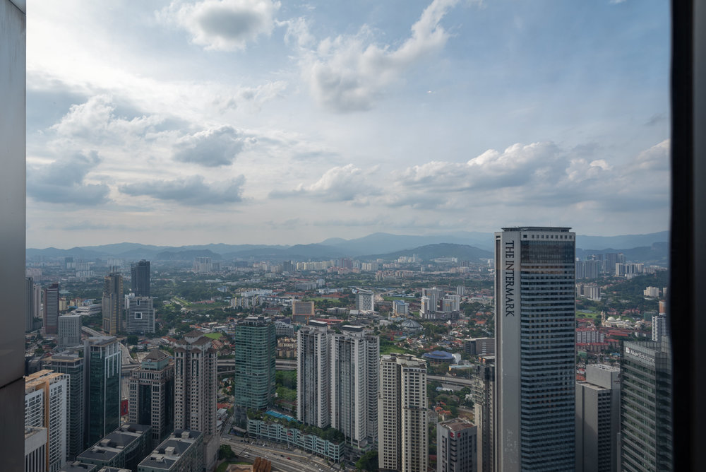 View from Bedroom  One Bedroom Skyline Suite - Element Kuala Lumpur