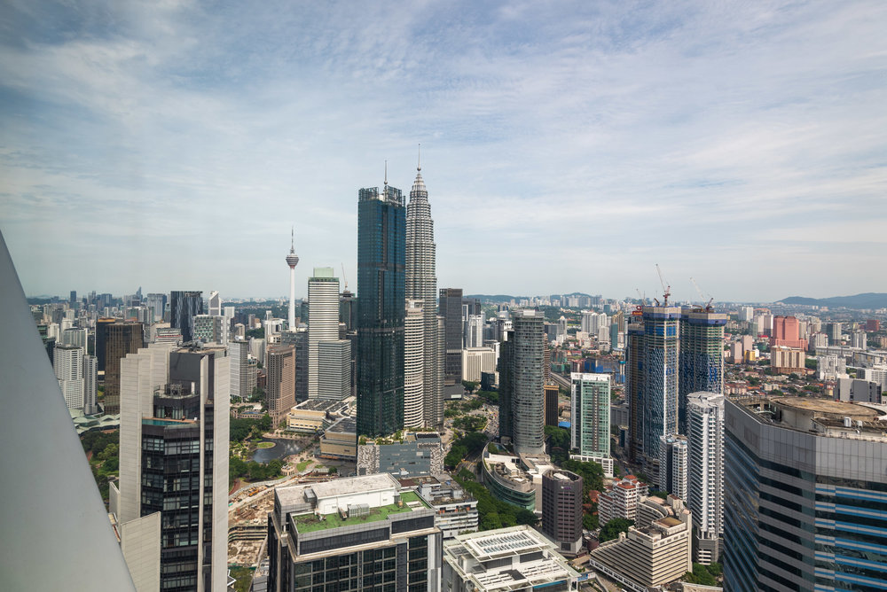 View from Living Room  One Bedroom Skyline Suite - Element Kuala Lumpur