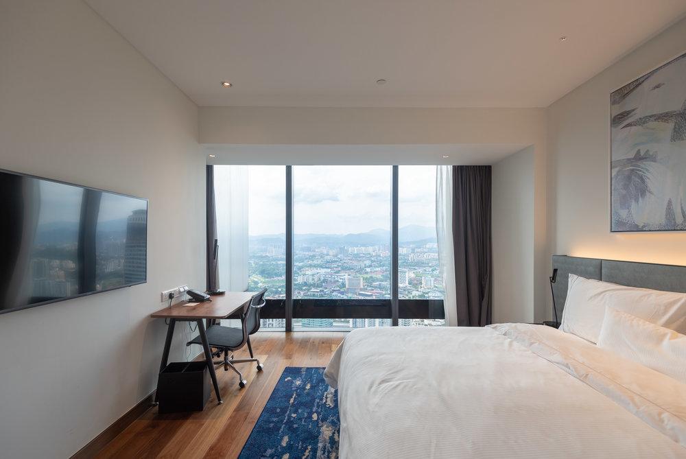 Work Desk in Bedroom  One Bedroom Skyline Suite - Element Kuala Lumpur