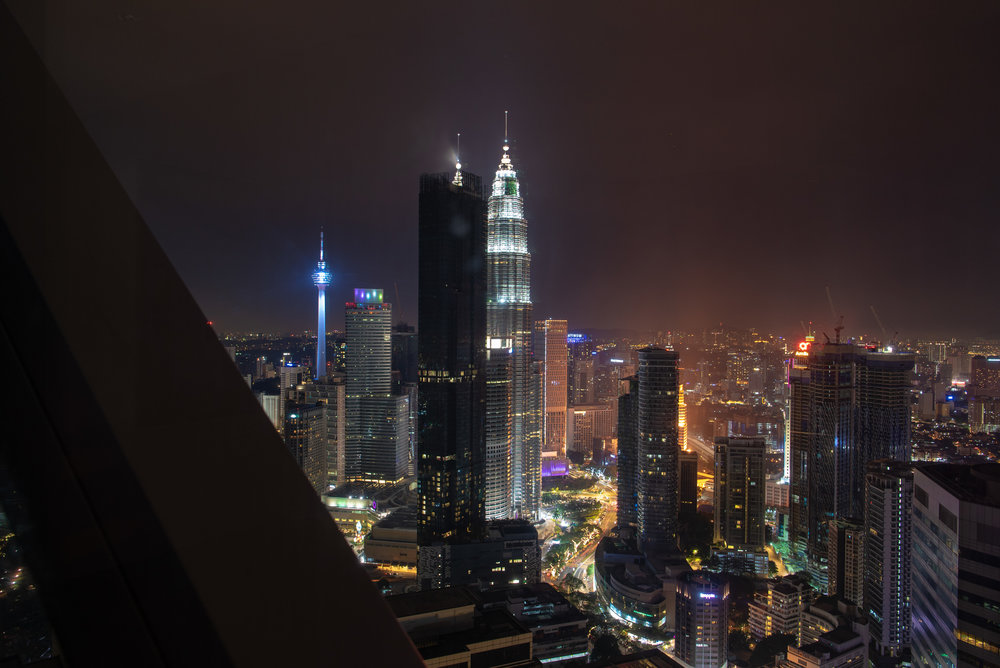 Night View from Living Room  One Bedroom Skyline Suite - Element Kuala Lumpur