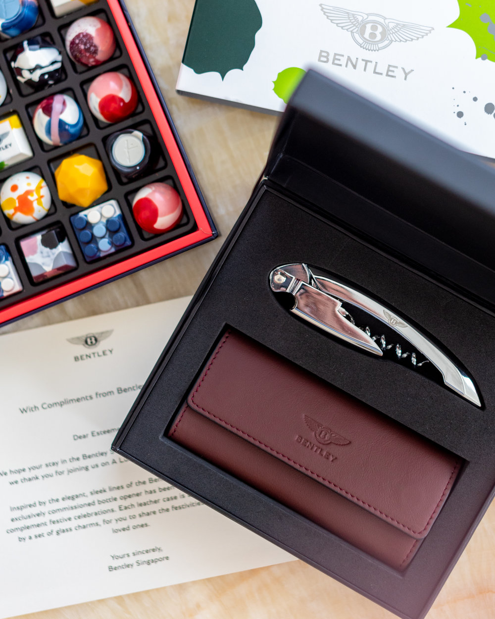Bentley Welcome Amenity and Gift Set   The St. Regis Singapore