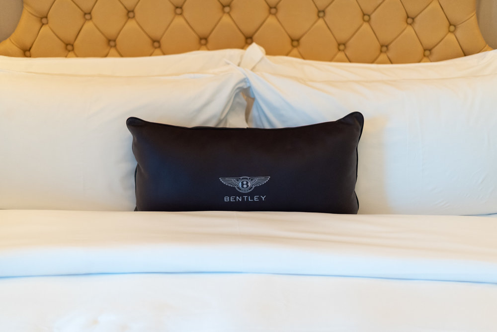 Bentley Leather Cushion  The St. Regis Singapore