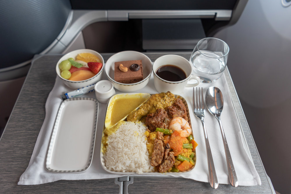 Book the Cook - Nyonya Nasi Padang  Singapore Airlines Business Class SQ942 787-10 - SIN to DPS