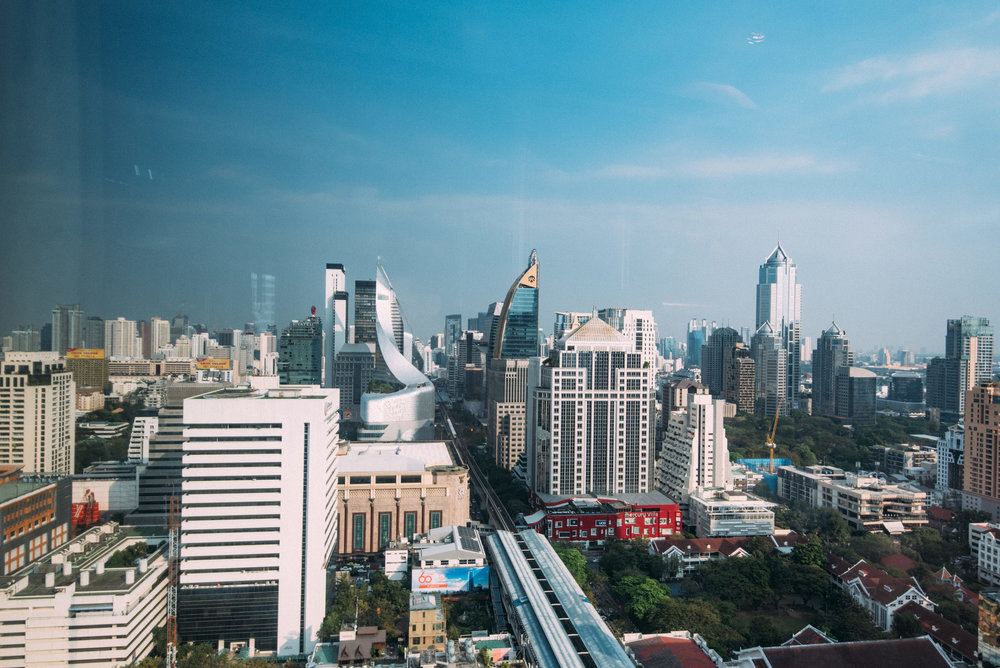 View from Bedroom  Executive Deluxe Room — InterContinental Bangkok