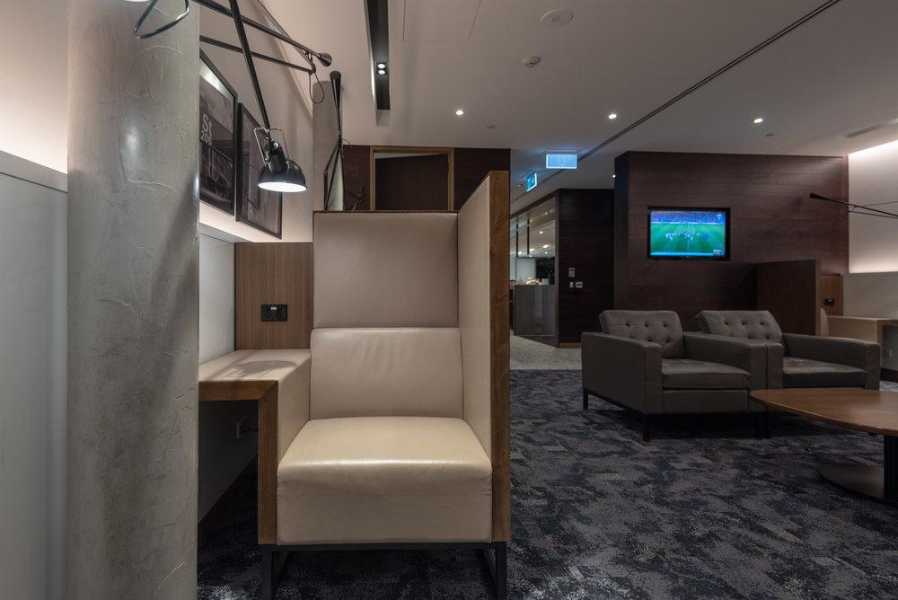 Semi-Private Seats  American Express Lounge - Melbourne Airport
