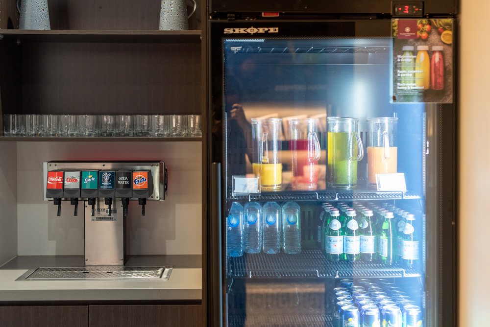 Sodas and Fresh Juices  American Express Lounge - Melbourne Airport