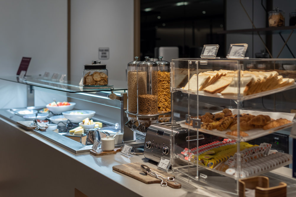 Breakfast Selection  American Express Lounge - Melbourne Airport
