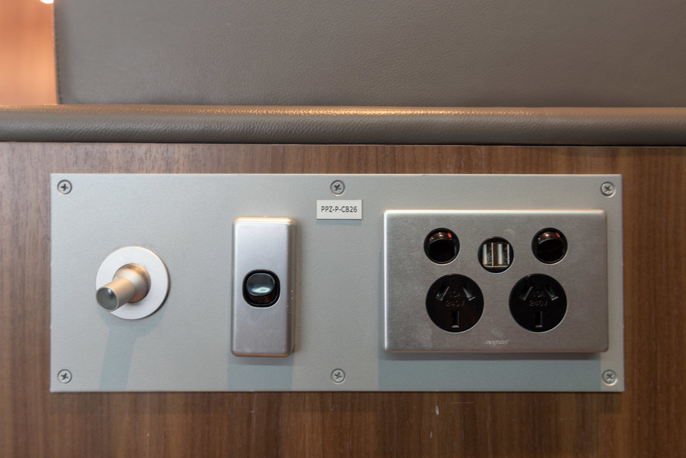Power Outlets and USB Charging Ports  Plaza Premium Lounge - Melbourne Airport (MEL)