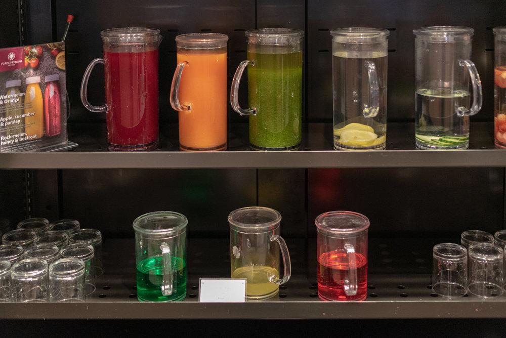 Juices and Cordial  Plaza Premium Lounge - Melbourne Airport (MEL)