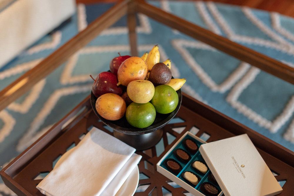 Welcome Amenities  Premium Club InterContinental Duplex Suite - InterContinental Bali Resort