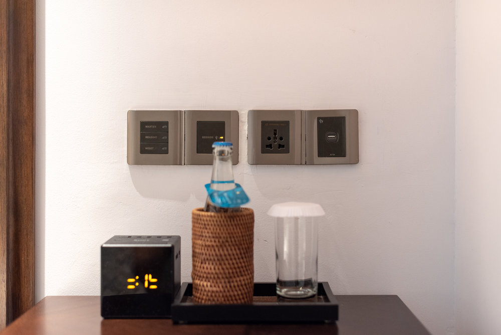 Universal Power Outlets by the Bed  Premium Club InterContinental Duplex Suite - InterContinental Bali Resort