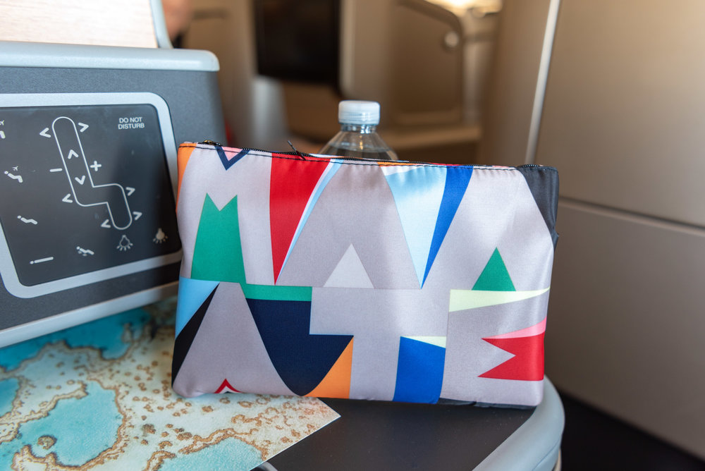 Business Class Amenity Kit  Qantas Business Class QF37 A330-300 - MEL to SIN