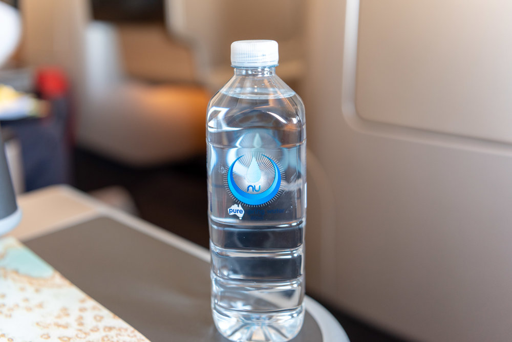 Bottled Water  Qantas Business Class QF37 A330-300 - MEL to SIN