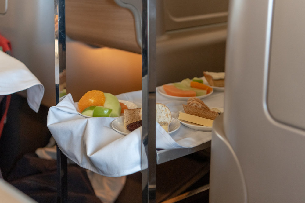 Dessert Trolley  Qantas Business Class QF37 A330-300 - MEL to SIN