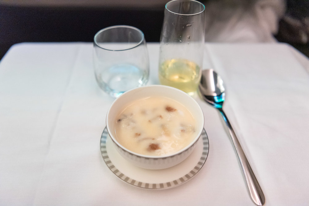 Chilled Glutinous Rice Soup  Singapore Airlines Business Class SQ833 A380-800 - PVG to SIN
