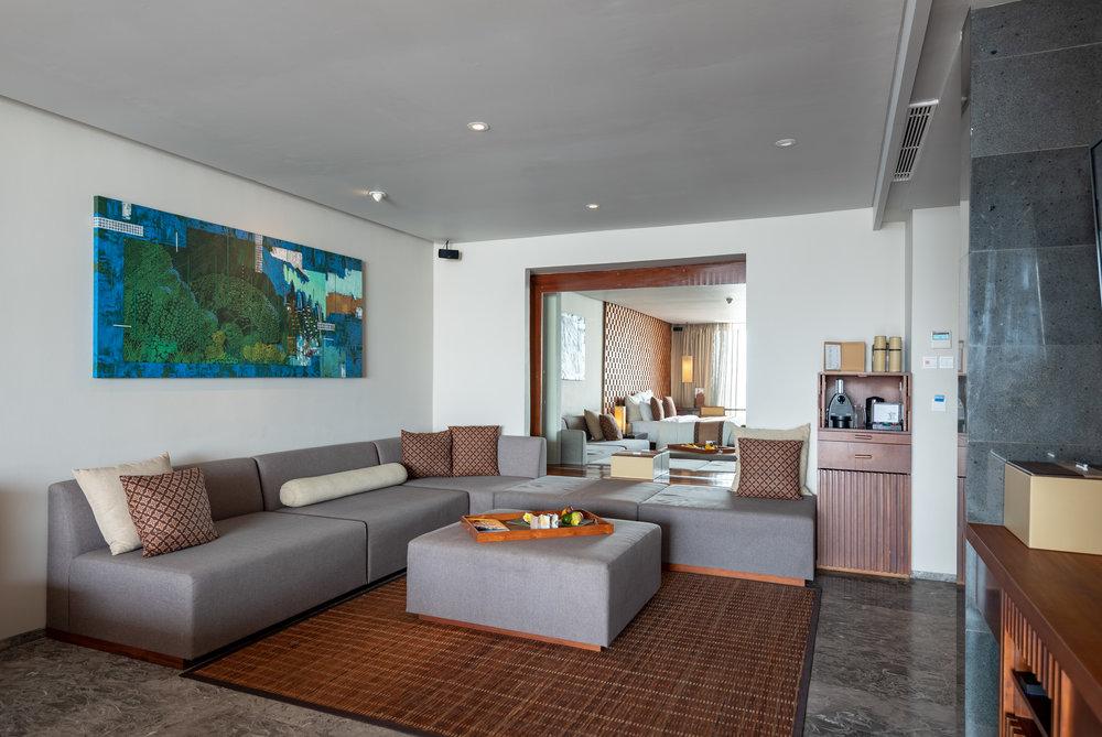 Living Area  Ocean Front Suite - Anantara Uluwatu Bali Resort