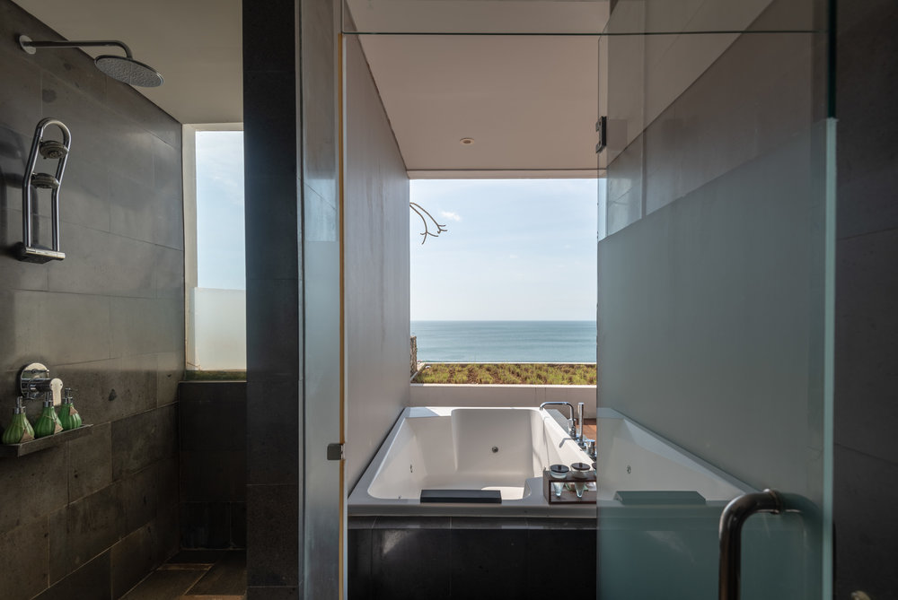 Shower and Outdoor Tub  Ocean Front Suite - Anantara Uluwatu Bali Resort