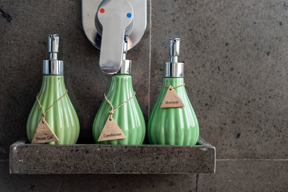 Bath Amenities  Ocean Front Suite - Anantara Uluwatu Bali Resort