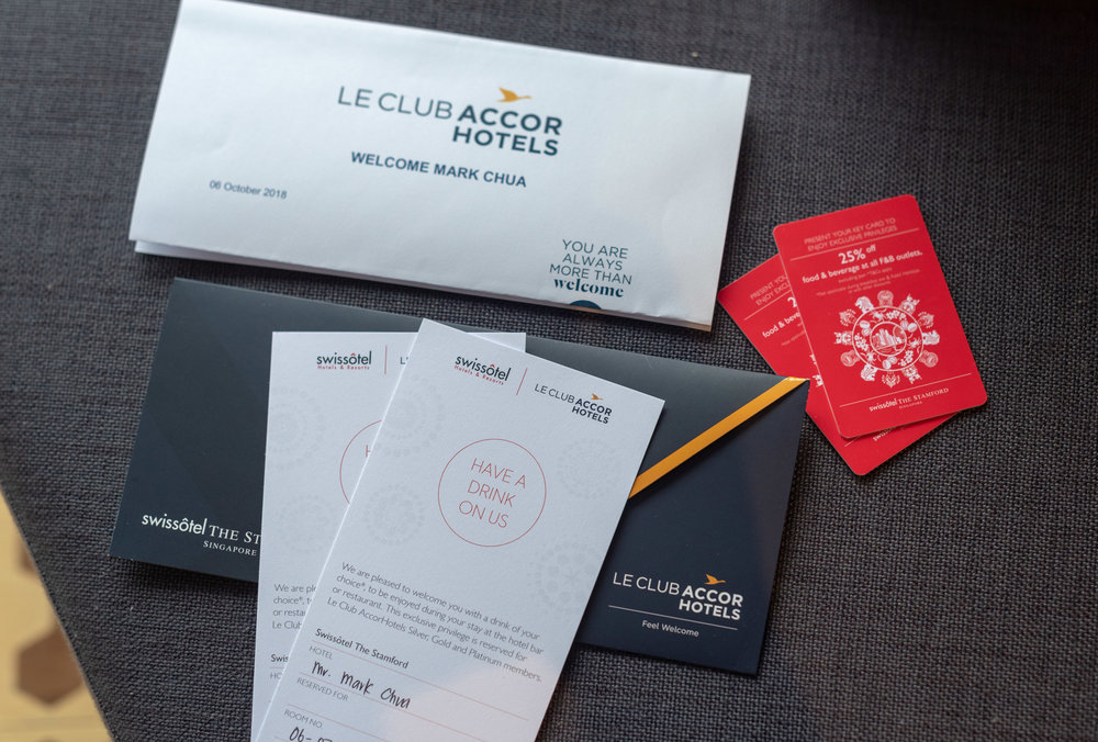 Welcome Drink Vouchers  Premier Harbour View Room - Swissotel The Stamford
