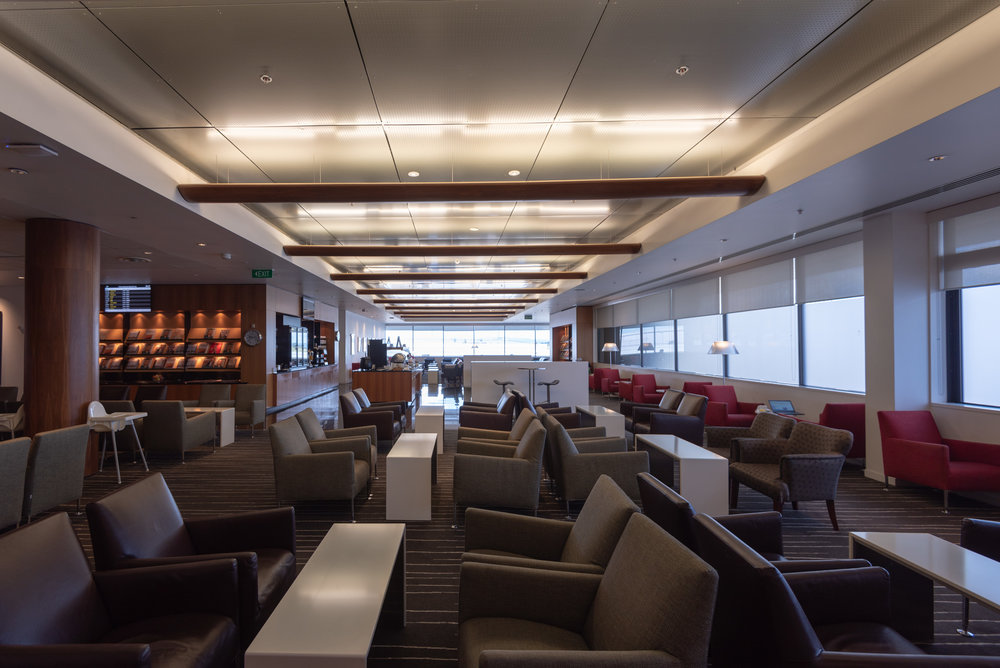 Plenty of Seats  Qantas International Business Lounge - Auckland Airport (AKL)
