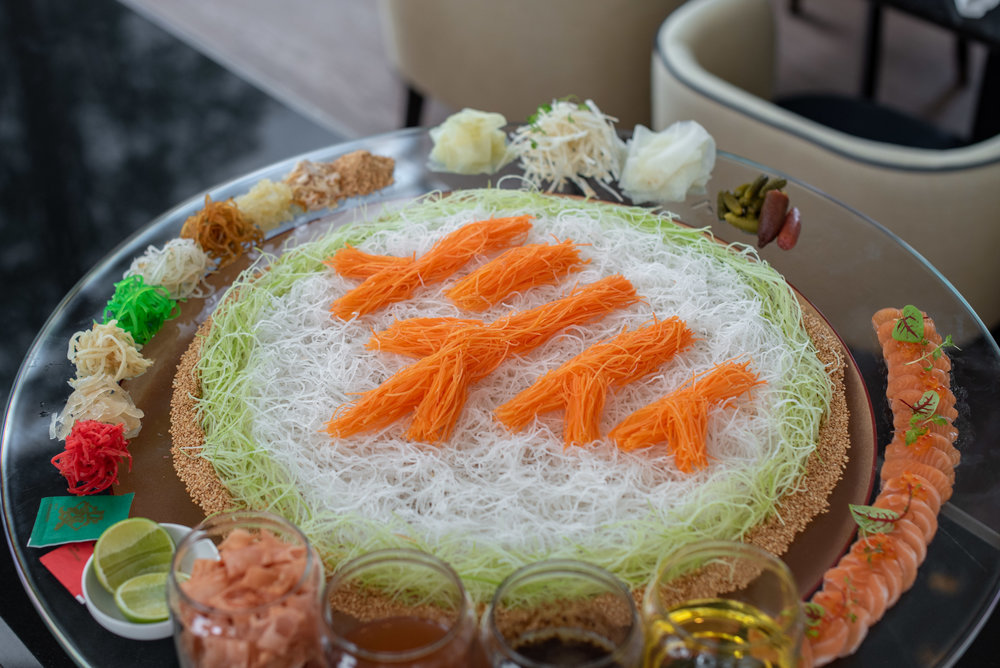Auspicious Yu Sheng With Black Garlic Dressing  Racines - Sofitel Singapore City Centre