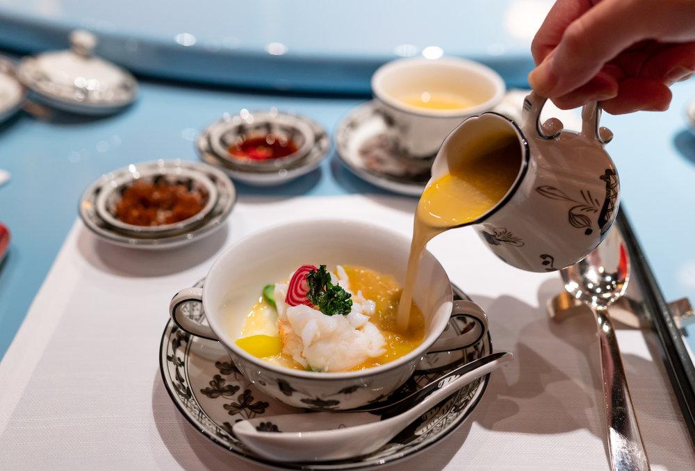 Australian Lobster Soup, Asparagus, Carrot, Egg White, Lobster Stock  Summer Pavilion - The Ritz-Carlton, Millenia Singapore