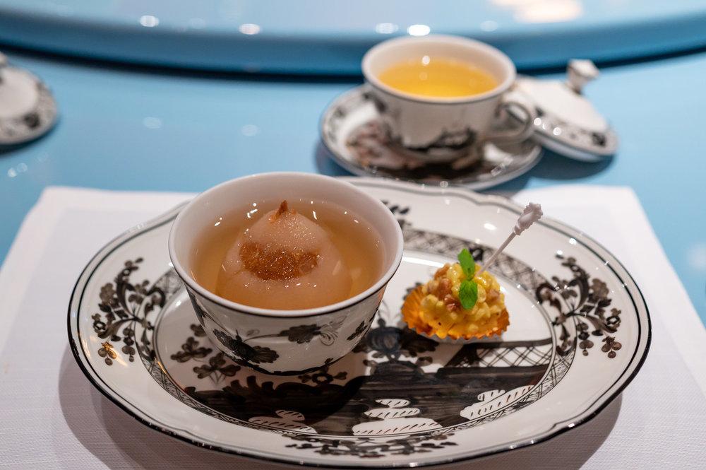 Chilled Superior Bird's Nest, Pear Osmanthus Crunch Bar  Summer Pavilion - The Ritz-Carlton, Millenia Singapore