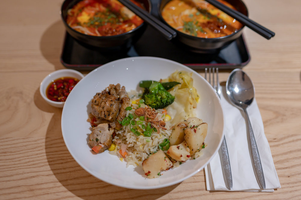Selection of Hot Food  Blossom – SATS & Plaza Premium Lounge (Singapore Changi Airport Terminal 4)