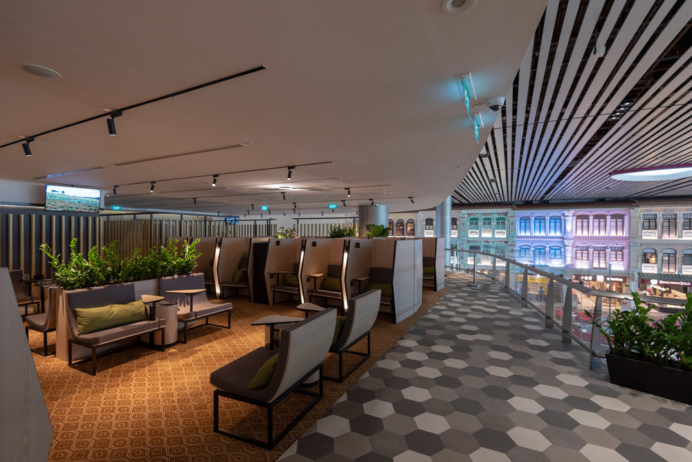 Seating Area  Blossom – SATS & Plaza Premium Lounge (Singapore Changi Airport Terminal 4)