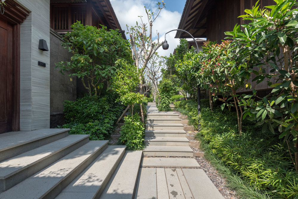 Pathway to Villas  HOSHINOYA Bali