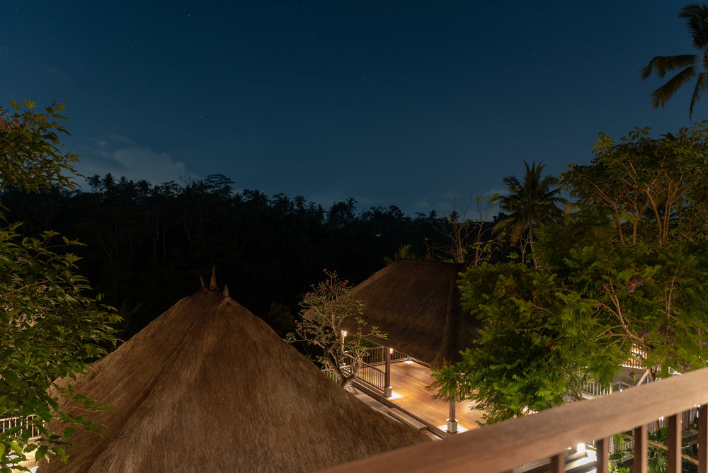 Night View from Private Terrace  Jalak - HOSHINOYA Bali