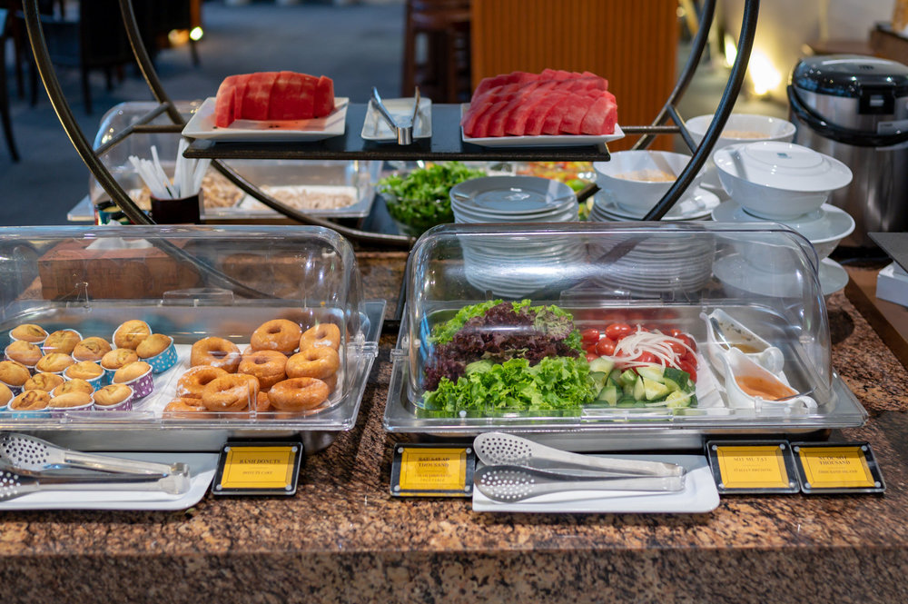 Cold Food Selection  Vietnam Airlines Lotus Lounge - Noi Bai International Airport