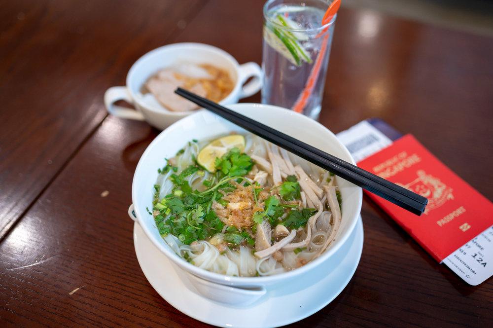 Chicken Pho  Vietnam Airlines Lotus Lounge - Noi Bai International Airport