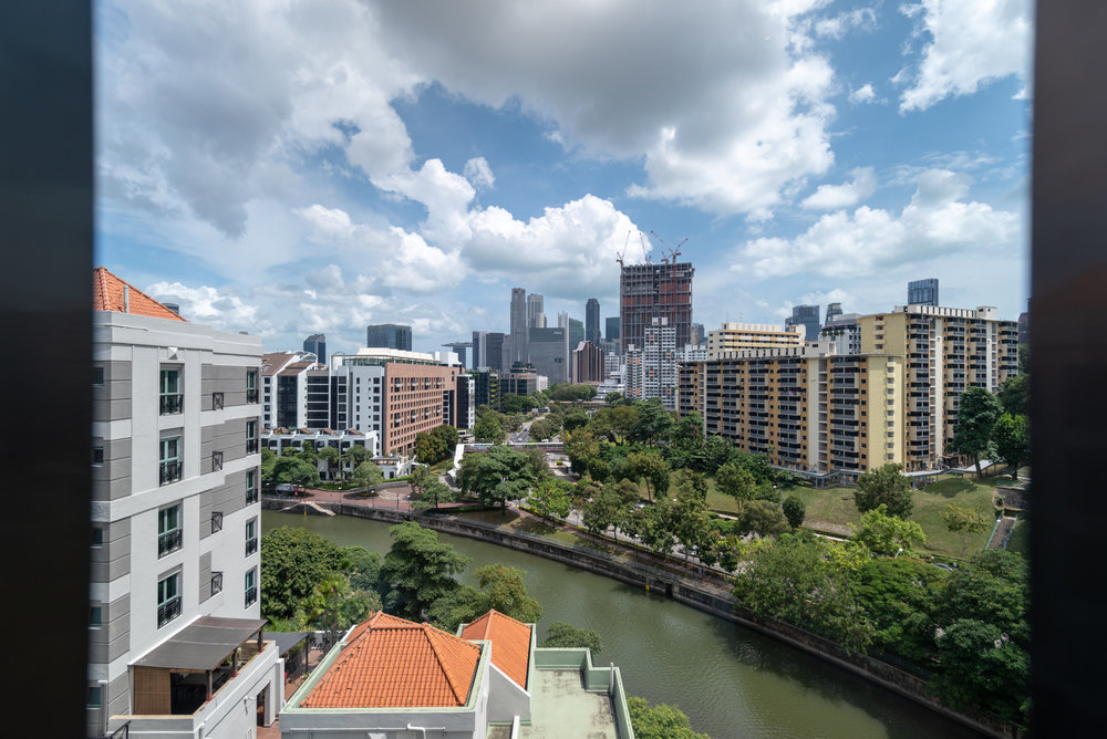 View from Bedroom  Quayside Corner Suite - InterContinental Singapore Robertson Quay