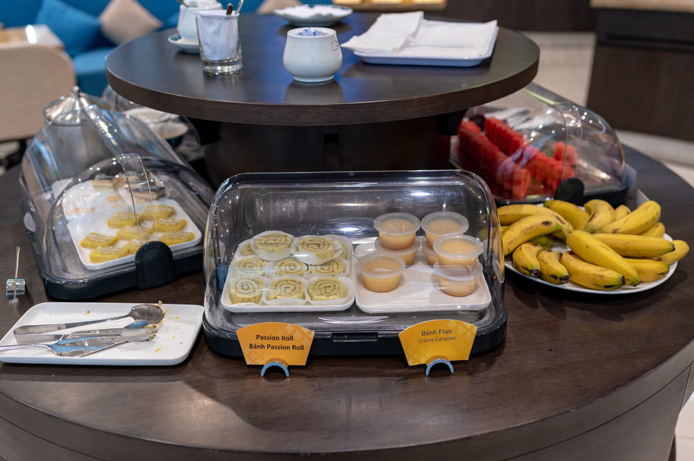 Fruits and Desserts  Song Hong Business Lounge - Noi Bai International AIrport (HAN)
