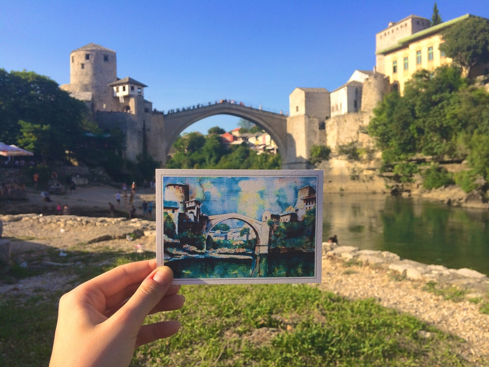 Pretty as a postcard in Mostar.