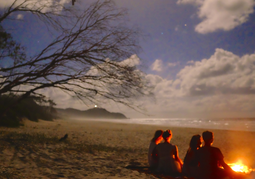 Arakwal, Bonfire, Full Moon, Byron Bay - A Pilot's Daughter