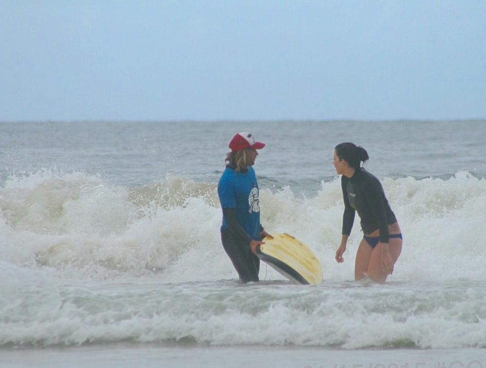 Surf Lesson, Byron Bay, Simon Jones - A Pilot's Daughter