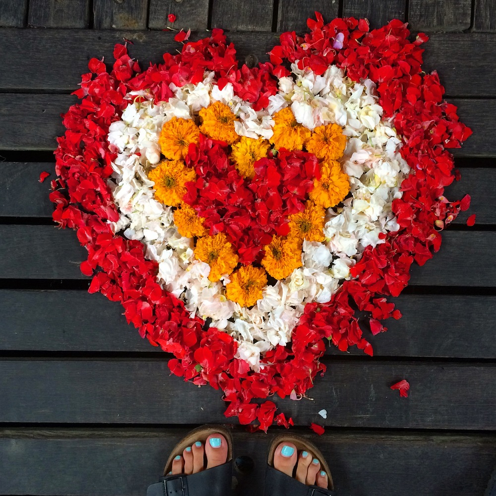 Love Heart, Petals, Bali - A Pilot's Daughter