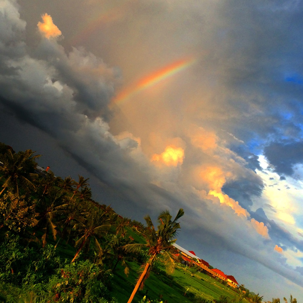 Rainbow, Bali, Rice Fields - A Pilot's Daughter