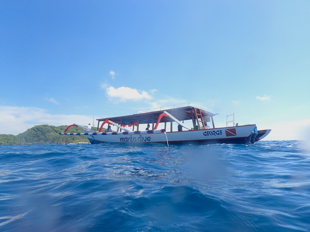 Dive Boat, Gili Islands, Indonesia, Scuba