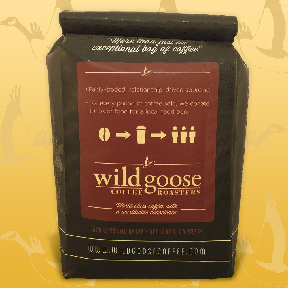 Back of 12 oz Coffee Bag