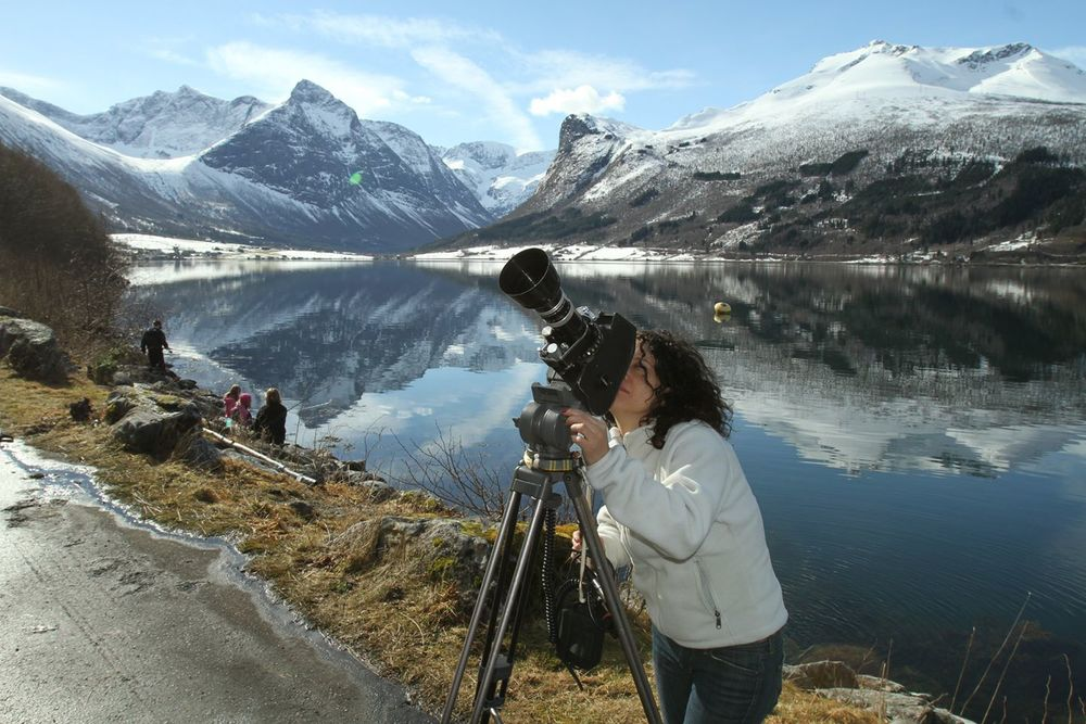 Director Marah Strauch on the project's first tour to Norway for location survey and financing talks. The tour was hosted by Western Norway Film Commission.