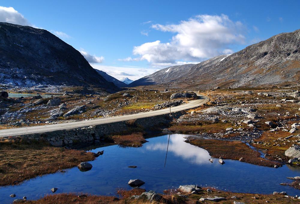 Strynefjellsvegen. Photo by Werner Harstad / Statens Vegvesen.