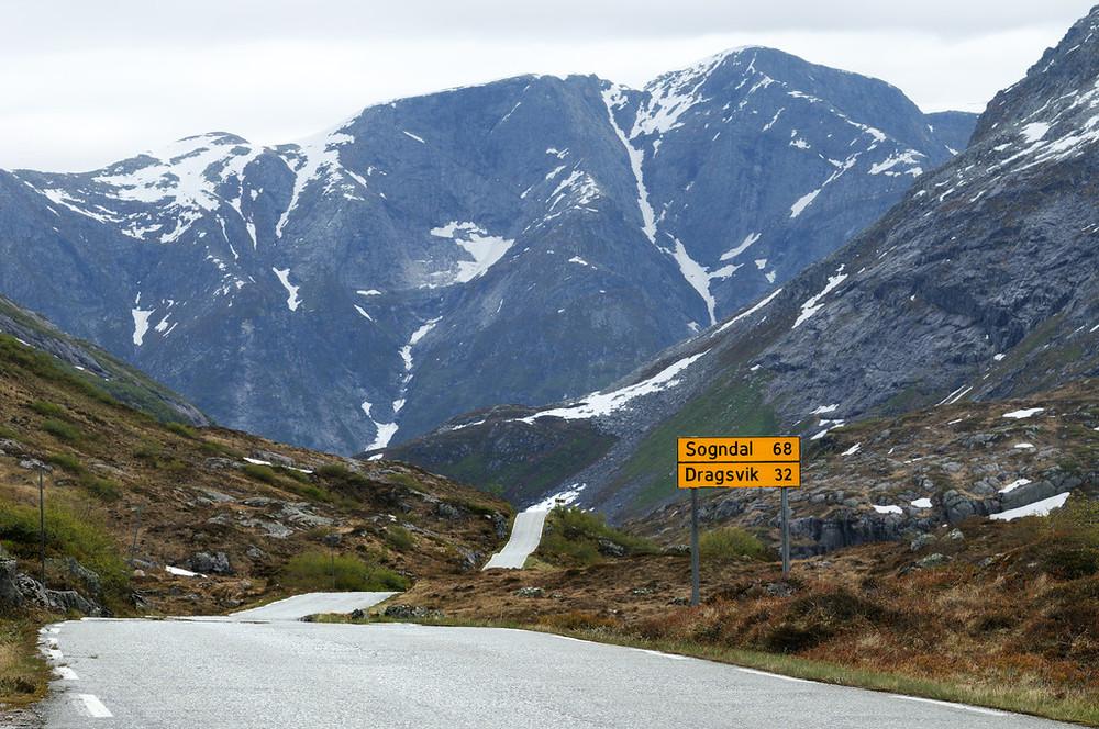 Gaularfjellet, June 16th. Photo by Jarle Wæhler / Statens Vegvesen.