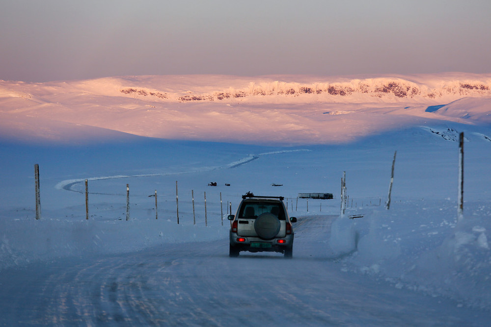 Hardangervidda, January 10th. Photo by Sigmund Krøvel Velle / Statens Vegvesen.