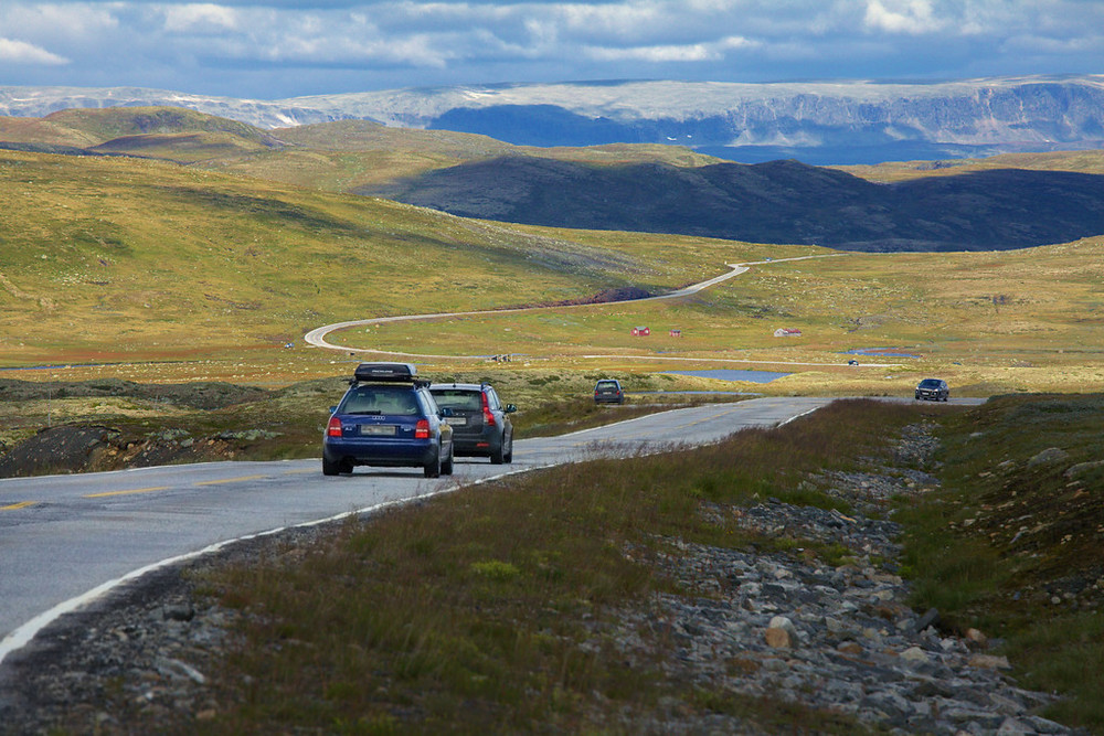 Hardangervidda, August 10th. Photo by Sigmund Krøvel Velle / Statens Vegvesen.